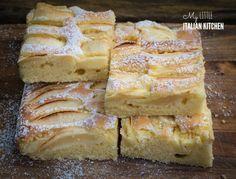 Simple apple slices cake