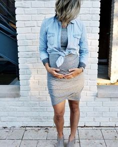 Discover the latest fashion trends for the most stylish mother to be. #pregnancydress,