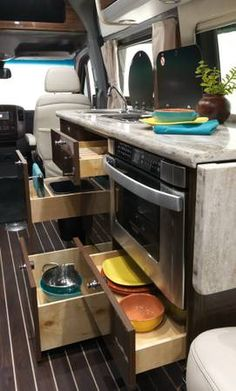 2015 Airstream Interstate Grand Tour Showing Kitchen And Storage