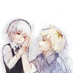 """""""Don't leave me alone""""  Kaneki Ken & Hideyoshi Nagachika"""