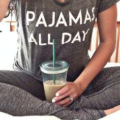 The best kind of days are pajamas all day days. Pyjamas, Looks Style, Style Me, Pijamas Women, Le Closet, Cute Pjs, Pajamas All Day, Relax, Pajama Party