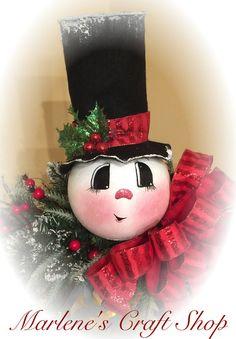 Linterna colgante muñeco de nieve decoración por MarlenesCraftShop