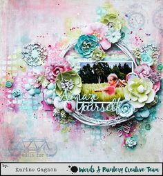 Hi, dear friends,     Today is reveal day over at Words & Paintery . I would like to share my layout with you. Here it is:     Amaze Yourse...