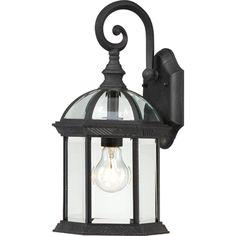 Nuvo Boxwood 1 Light Wall Lantern; textured black; 15.75''H x 8''W; 100W bulb (reg bulb); online: $49.99