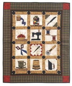 Idea: Needles and Notions - Paper-Pieced Patterns with a Sewing Room Theme  By Jaynette Huff  Book Format: $24.99  Print Version + eBook $24.99  eBook Only $16.99  $24.99