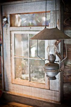 Rustic Lamp Window Photography