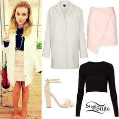 Perrie Edwards: Crop Sweater, Wrap Skirt | Steal Her Style