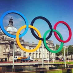 Olympics rings - Cardiff, Wales