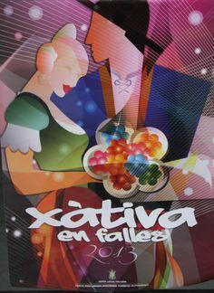 Cartel Falles a Xàtiva 2013. Diseño: Vicent Tormo Aldeguer.