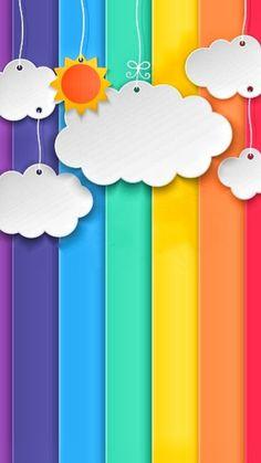Cute Wallpaper Backgrounds, Flower Wallpaper, Mobile Wallpaper, Cute Wallpapers, Iphone Wallpaper, Kids Background, Rainbow Background, Cartoon Background, Rainbow Crafts