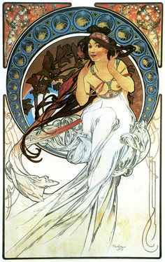 Alfons Mucha (1860-1939) - Les arts La Musique (1898)