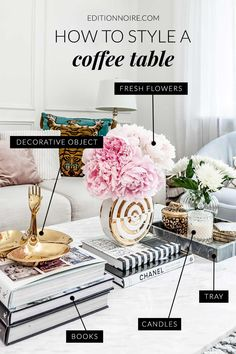 The coffee table is the focal point of your living room. In this article, you'll get some amazing tips for styling and decorating your coffee tables so you can create an impeccable surface that every guest appreciates. Coffee Table Styling, Diy Coffee Table, Decorating Coffee Tables, Coffee Table Design, Coffee Table Candles, Coffee Coffee, Coffee Table Vignettes, Coffee Beans, Books On Coffee Table