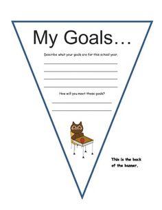 MY GOALS PERSONALIZED BANNER - TeachersPayTeachers.com