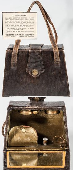 Decorative Arts Considerate Antique 1930 Art Deco Shaving Grooming Travel Kit Leather Case