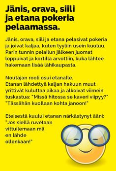 janis_orava_siili_pokeria_pelaamassa_2 Haha, Humor, Comics, Memes, Quotes, Movie Posters, Funny Things, Nice, Quotations