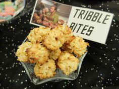 Gene Roddenberry's birthday / Star Trek party: Mmm, Tribbles. Taste like coconut.