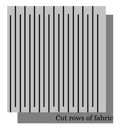 How to cut fabric into one continuous strip to crochet
