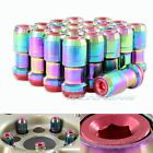 """20x M12 x 1.5mm Thread Pitch Red / Neo Chrome Wheel Rim Tuner 1.9"""" Long Lug Nuts - http://awesomeauctions.net/wheels-rims/20x-m12-x-1-5mm-thread-pitch-red-neo-chrome-wheel-rim-tuner-1-9-long-lug-nuts/"""