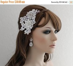 SALE Bridal Headpiece Bridesmaid Headpiece by EleganceByKate