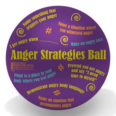 Anger Strategies Ball by Childtherapytoys - Products for a wide range of therapy (ADHD, grieving, anger, etc.)