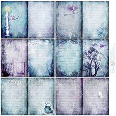 Libro de las sombras Grimoire revista páginas por ScreechOwlStudio