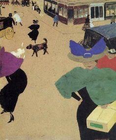 Jean Édouard Vuillard (1868-1940) A-Street