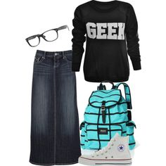 """Geek chic."" by nihee-chosu on Polyvore"