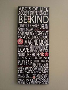 ABC's of Life…love this :)