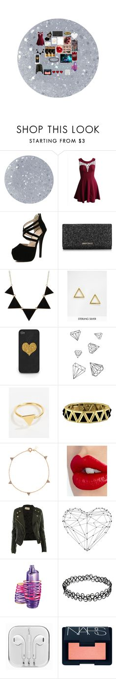 """""""Party with jack g."""" by teen-wolf-lover ❤ liked on Polyvore featuring Butter London, Jimmy Choo, CO, ASOS, Ottoman Hands, House of Harlow 1960, Charlotte Tilbury, Justin Bieber, NARS Cosmetics and Retrò"""