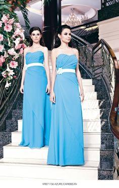 Blue bridesmaid dresses from Veromia at Camellia Bridal