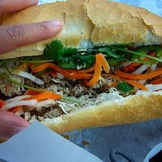 3 pages of different Banh Mi
