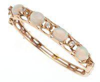 Opal, Diamond, Gold Bracelet