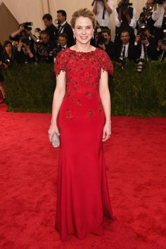 """Marissa Mayer Photos Photos - President and CEO of Yahoo Marissa Mayer attends the """"China: Through The Looking Glass"""" Costume Institute Benefit Gala at the Metropolitan Museum of Art on May 4, 2015 in New York City. - 'China: Through The Looking Glass' Costume Institute Benefit Gala - Arrivals"""