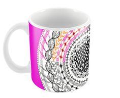 Colourful Geometric Mandala Coffee Mugs | Artist : Amulya Jayapal | PosterGully