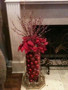 Nice for that corner or entry way.... Love this; I can change the bulbs according to my design every year....Very Beautiful! Would be really easy to make. This would make a great table centerpiece too!