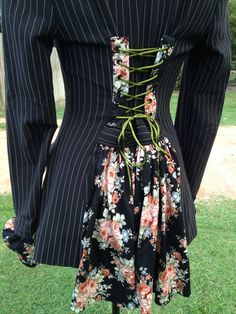How to turn an ordinary man's suit coat into an upcycled, steampunk, victorian, bohemian jacket for Burning Man.
