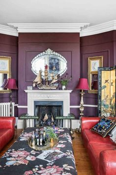 Tour Fashion Designer Alice Temperley's House - a Stunning Mansion in Somerset | Livingetc Vintage Shop Display, Sage Green Kitchen, Aubergine Colour, Eclectic Living Room, Living Rooms, Edwardian House, Inspire Me Home Decor, Cozy Place, Reception Rooms