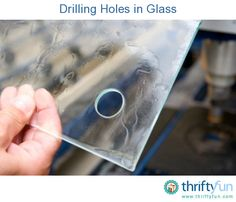 This is a guide about drilling holes in glass. Glass crafters often find that they need to drill holes in glass to complete their project. Glass Block Crafts, Stained Glass Projects, Glass Blocks, Stained Glass Patterns, Fused Glass Art, Stained Glass Art, Mosaic Glass, Mosaic Mirrors, Mosaic Art