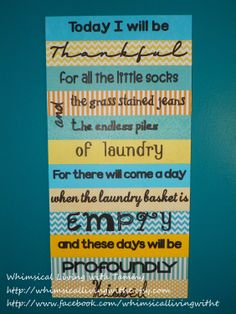 12x24 Whimsical laundry room sign Today I by WhimsicalLivingWithT, $40.00