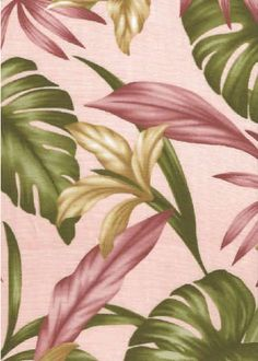 Meli - Barkcloth Hawaii Fabrics - Vintage Style Hawaiian Fabrics & Vintage Hawaiian Lily flowers on a cotton poplin apparel fabric. Hawaiian Art, Hawaiian Flowers, Vintage Hawaiian, Coral Background, Flower Garden Design, Wedding Table Flowers, Amazing Flowers, Watercolor Flowers, Retro Fabric
