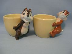 Pinner: Love the cartoon egg cups.  Here is my Chip n Dale egg cups. (E-bay)