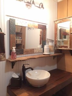 Best My Bathroom Remodel Year Old Ranch House Images On - Ranch house bathroom remodel