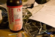 Hydrogen peroxide is an all-natural, all-purpose healer and cleaner.
