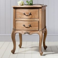 Chic bedside table in weathered finish with 2 drawers - 44824 bedside cabinets, bedside tables, bedroom furniture packages, units in modern, contemporary. French Furniture, Shabby Chic Furniture, Luxury Furniture, Bedroom Furniture, Hudson Furniture, French Bedside Tables, Wooden Bedside Table, Lamp Table, Bedside Cabinet