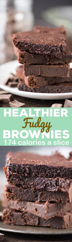 The healthier fudgy brownies of your dreams! No refined sugar, butter or oil, plus this recipe doesn't call for any out of the ordinary ingredients. These are seriously fudgy and estimated to be 174 calories a slice!