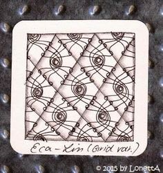 LonettA_MS_Eca-Lin_Grid new tangle patterns Eca-Lin and Eca-Linli. See more variations at the link