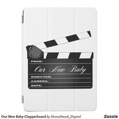 Our New Baby Clapperboard iPad Air Cover