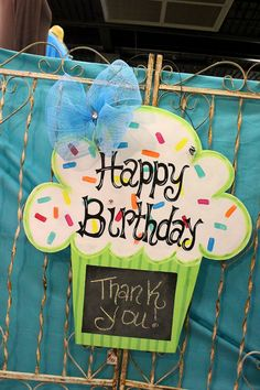 Birthday Chalkboard Door Hanger by Jminnix14 on Etsy, $70.00