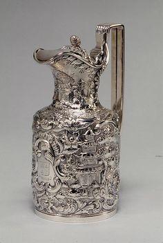 Milk Pot Maker: Andrew Ellicott Warner Date: 1845 Geography: Mid-Atlantic, Baltimore, Maryland, United States Culture: American Medium: Silver