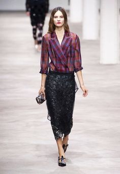 Embellishement  under Sheer Chiffon , Hidden Beauty under Sheer Skirt Trend for Spring Summer 2013.  Dries Van Noten Spring Summer 2013.   #fashion #trends